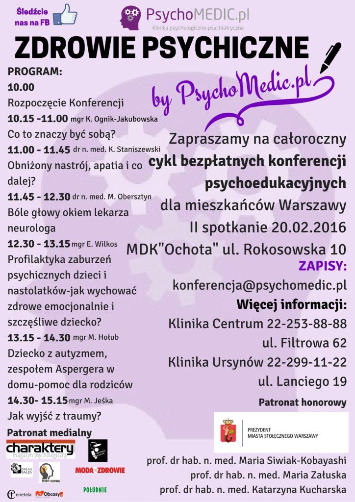 Konferencja Zdrowie Psychiczne by PsychoMedic.pl 20.02.2016