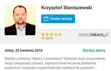 dr n. med. Krzysztof Staniszewski – psychiatra, psychoterapeuta Warszawa