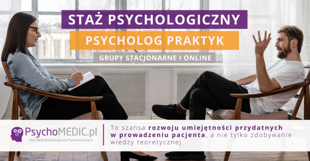 Staż dla psychologów Psycholog-Praktyk w PsychoMedic