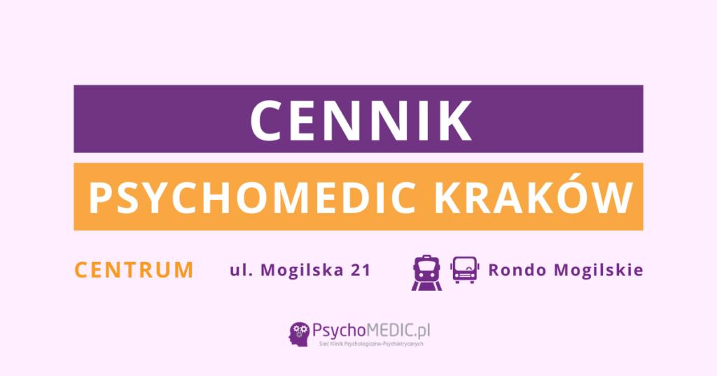 Cennik PsychoMedic Kraków