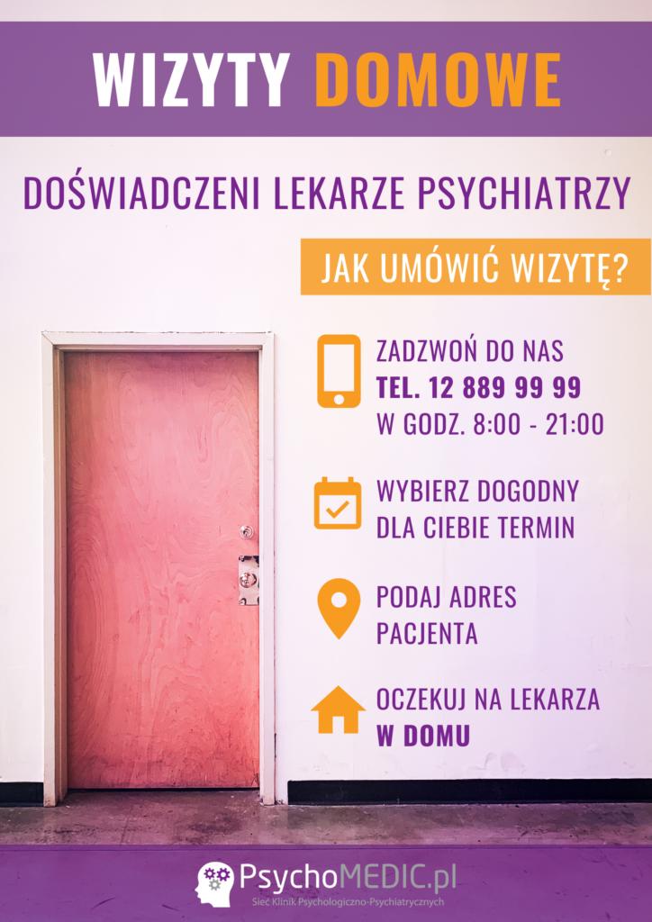 Plakat Wizyty Domowe Kraków