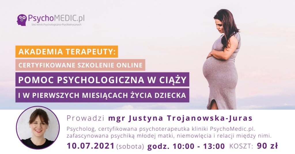 Pomoc psychologiczna w ciąży Akademia Terapeuty Lipiec