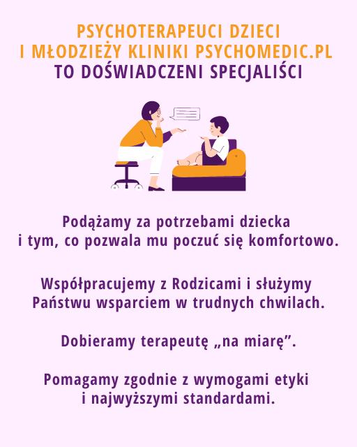 Psychoterapeuta dzieci i młodzieży Kraków