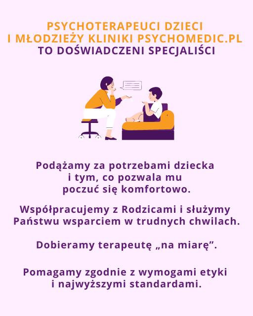 Psychoterapeuta dzieci i młodzieży Wrocław