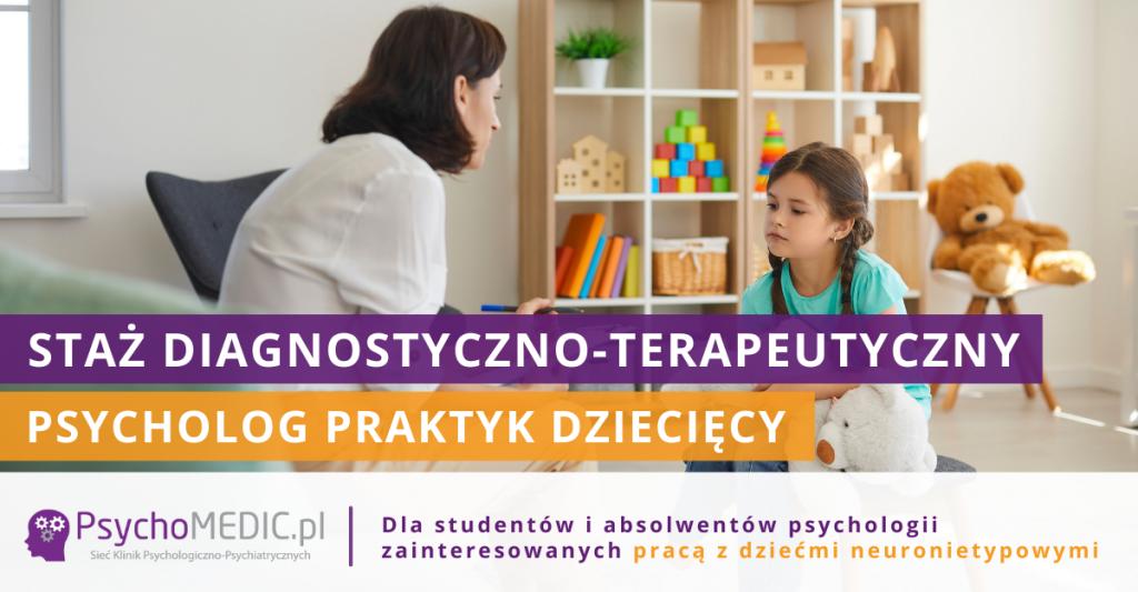Staż Psycholog Praktyk Dziecięcy