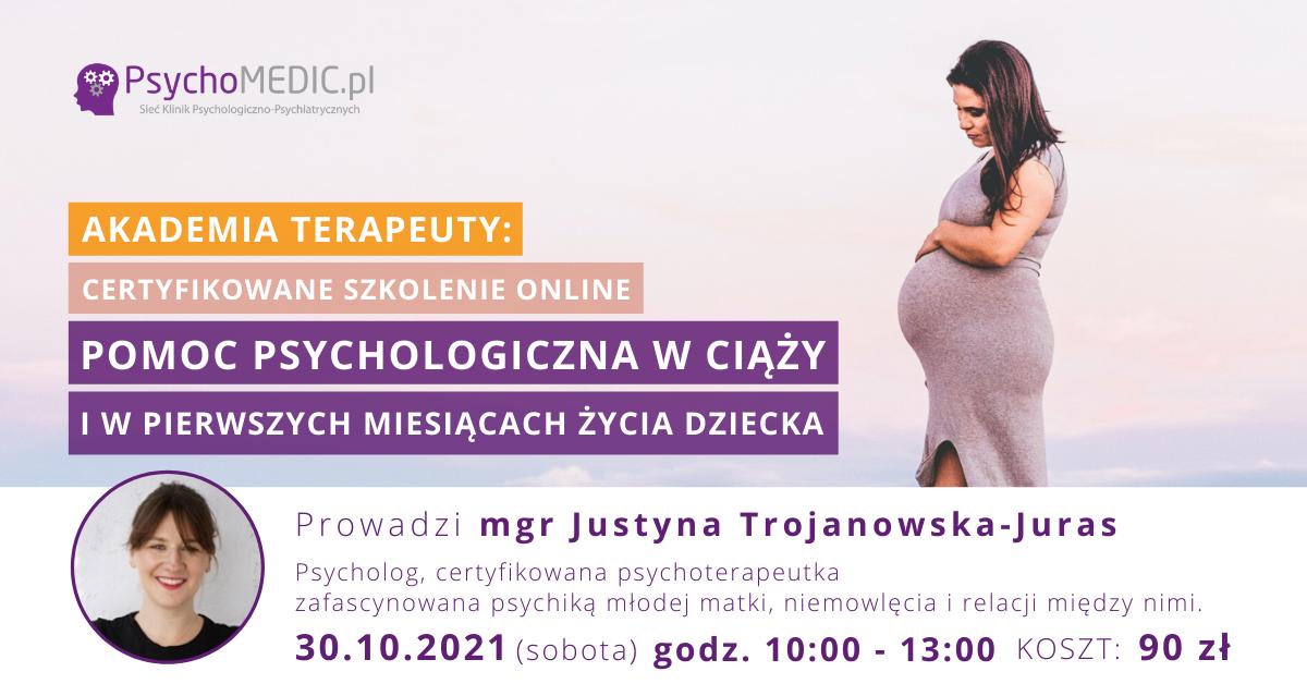 Pomoc psychologiczna w ciąży Akademia Terapeuty Pazdziernik