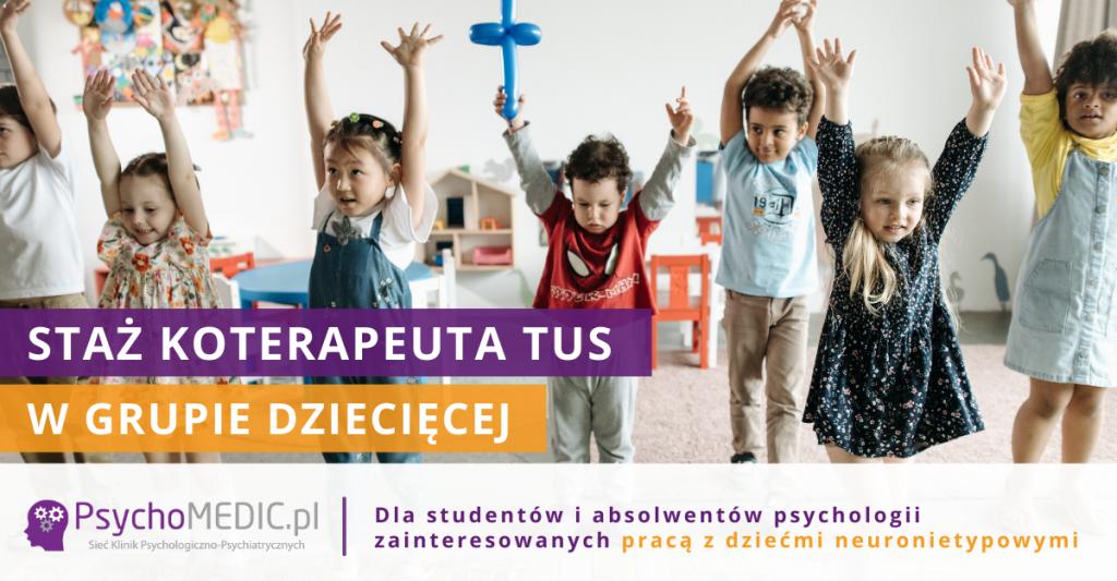 Staż Koterapeuta TUS w grupie dziecięcej